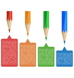 Colorful pencil infographics vector image vector image