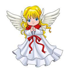 cute cartoon of an angel vector image vector image