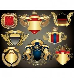 gold heraldry vector image vector image