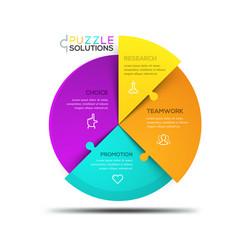 modern infographic design template circular vector image