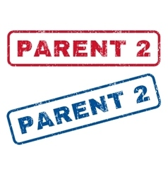 Parent 2 Rubber Stamps vector image vector image