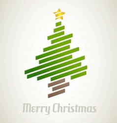 Christmas tree from stripes - modern christmas vector image vector image
