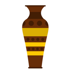 egyptian pottery vessel icon isolated vector image