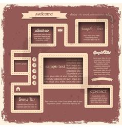 Retro style web design vector image vector image