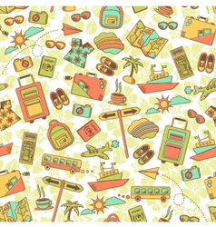 travel pattern vector image vector image