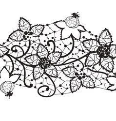 floral lace seamless vector image
