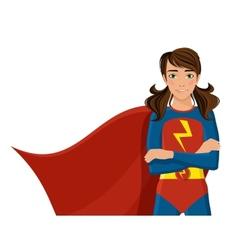 Girl in superhero costume vector image
