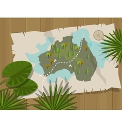 jungle map australia cartoon adventure vector image