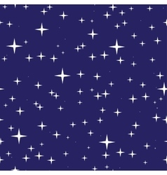 Starry night sky seamless pattern vector image vector image