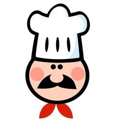 Chef Man Face Cartoon vector image vector image