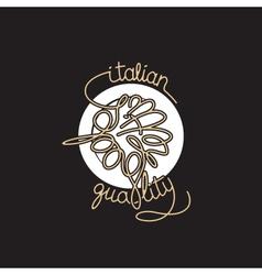 Spaghetti icon vector