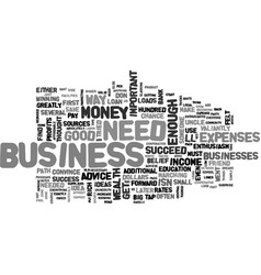 what do you need to succeed in business my answer vector image