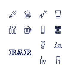 13 alcohol icons vector