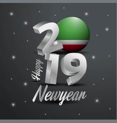 2019 happy new year chechen republic flag vector