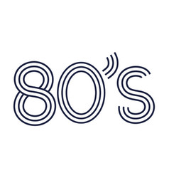 80s retro style vector