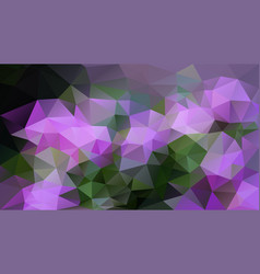 Abstract irregular polygon background green purple vector