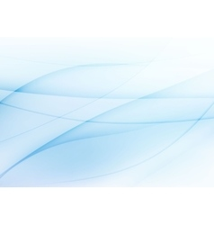 Abstract light blue wavy background vector image