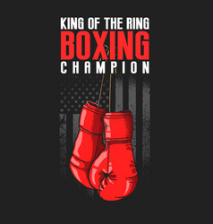 american boxing gloves sport vector image