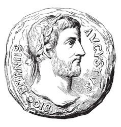 Augustus caesar vintage vector