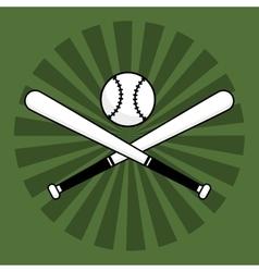 Baseball bats ball vector