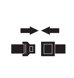 belt fastener black concept icon belt vector image