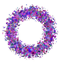 Blank abstract scattered confetti circle vector