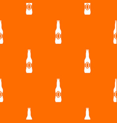 bottle of beer pattern seamless vector image