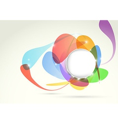 Bright transparent colorful design element vector image