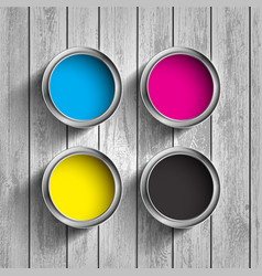 bucket of paint cmyk vector image