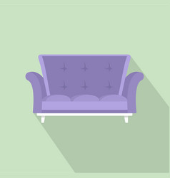 cabriole sofa icon flat style vector image