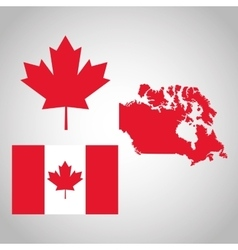 Canadas County design Maple leaf iconFlag vector