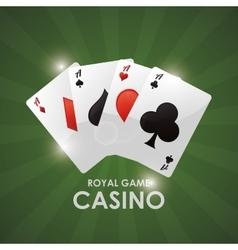 Cards casino las vegas game icon vector