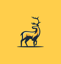 caribou concept design template vector image
