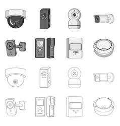 Cctv and camera logo set vector