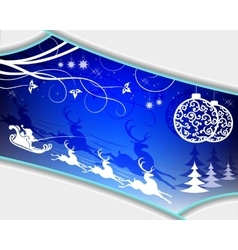 Christmas blue design vector