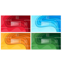 Colorful liquid and geometric background vector