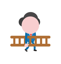 concept of faceless businessman character walking vector image