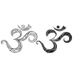 Contour symbol om vector