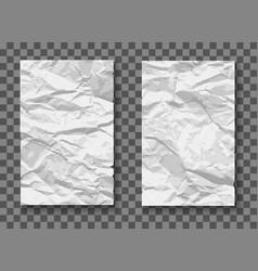 crumpled paper mockups vector image