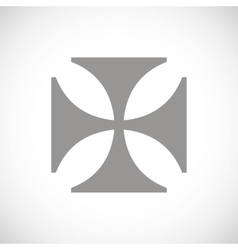 Crusaders black icon vector