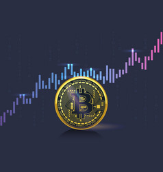 cryptocurrency prices are rising fast on the marke vector image