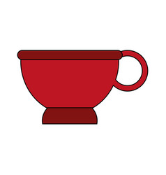 Cup red flat vector