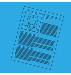 curriculum vitae design vector image