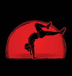 Dancer practice street dance vector