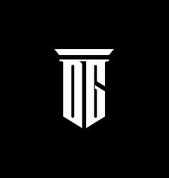 dg monogram logo with emblem style isolated vector image