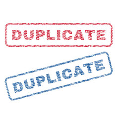 Duplicate textile stamps vector