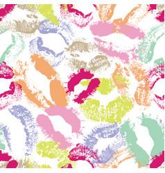 Dynamic pastel lip imprints seamless vector