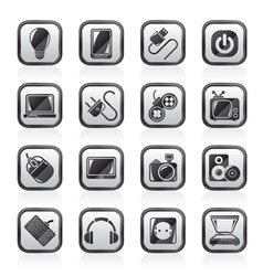 Electronic Devices objects icons vector
