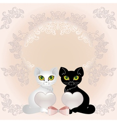 elegant cats vector image