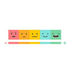 Emoticons temperature scale concept vector